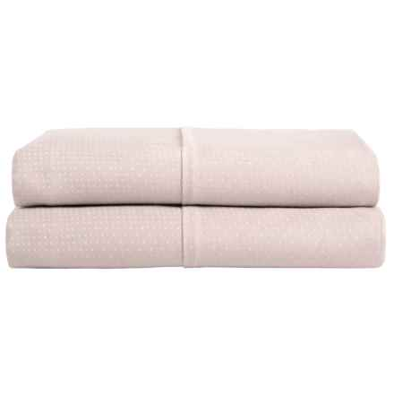 Barbara Barry Perfect Pindot Pillowcases - King, 300 TC Cotton Sateen, Set of 2 in Petal - Closeouts