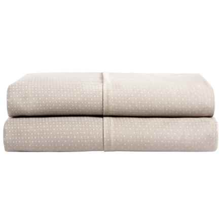 Barbara Barry Perfect Pindot Pillowcases - King, 300 TC, Set of 2 in Taupe - Closeouts