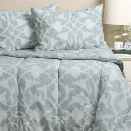 Barbara Barry Poetical Comforter Set - King in Denim - Closeouts