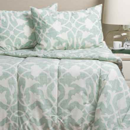 Barbara Barry Poetical Comforter Set - Queen in Celadon - Closeouts