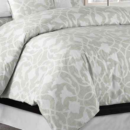 Barbara Barry Poetical Duvet Cover - Full-Queen, Cotton Percale in Cinder - Closeouts