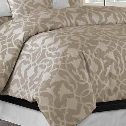 Barbara Barry Poetical Duvet Cover - King, Cotton Percale in Silver - Closeouts