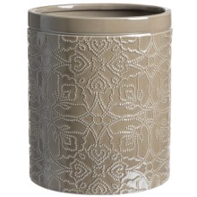 Barbara Barry Poetical Porcelain Waste Basket in Warm Silver - Closeouts