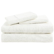 Barbara Barry Poetical Stitch Sheet Set - Queen, Cotton Percale in Celadon - Closeouts