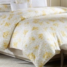 Barbara Barry Provence Cotton Duvet Cover - Full/Queen in Marigold - Closeouts