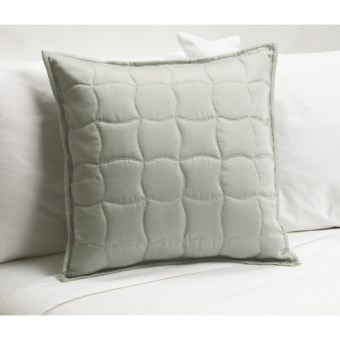 "Barbara Barry Quiet Curve Toss Pillow - 18x18"" in Seaglass"