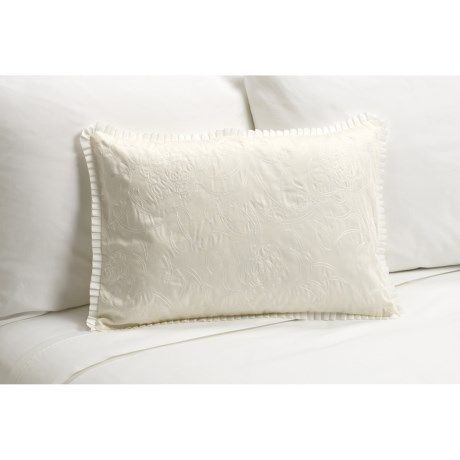 "Barbara Barry Rosette Boudoir Toss Pillow - 14x20"" in Ivory"