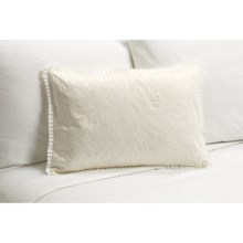 "Barbara Barry Rosette Boudoir Toss Pillow - 14x20"" in Ivory - Closeouts"