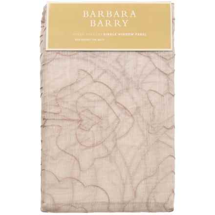 "Barbara Barry Sheer Tracery Single Window Panel - 50x108"" in Quartz - Closeouts"