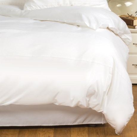 Barbara Barry Simplicity Stitch Duvet Cover - Full-Queen, Cotton Percale in Crisp White