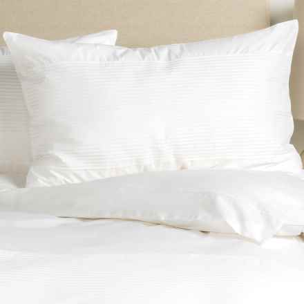 Barbara Barry Simplicity Stitch Pillow Sham - Queen, Cotton Percale in Crisp White - Closeouts