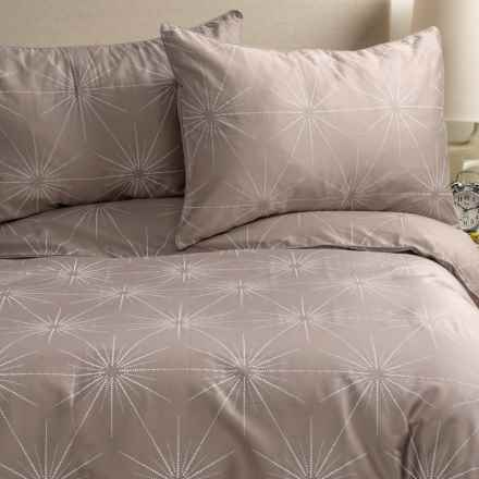 Barbara Barry Starburst Duvet Set - Queen in Nickel - Closeouts