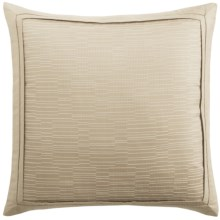 "Barbara Barry Strand Accent Pillow - 16x16"", Cotton Jacquard in Mica - Closeouts"
