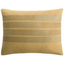 "Barbara Barry Strand Boudoir Accent Pillow - 12x16"", Cotton Jacquard in Brass - Closeouts"