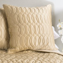Barbara Barry Sublime Silk and Cotton Euro Pillow Sham in Champagne - Closeouts