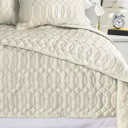 Barbara Barry Sublime Silk and Cotton Quilt - Full/Queen in Ivory - Closeouts