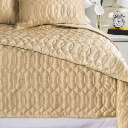 Barbara Barry Sublime Silk and Cotton Quilt - King in Champagne - Closeouts