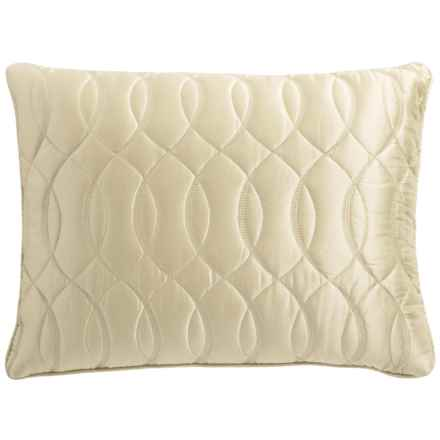 Barbara Barry Sublime Throw Pillow - Silk-Cotton in Ivory - Closeouts