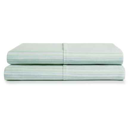 Barbara Barry Subtle Stripe Pillowcases - King, Set of 2 in Seafoam - Closeouts