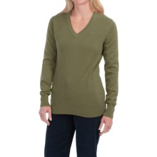 Barbour 21gg Pima Cotton Sweater - V-Neck (For Women) in Loden Green - Closeouts