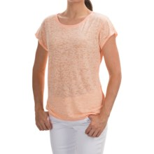 Barbour Abbot Burnout Shirt - Short Sleeve (For Women) in Light Peach - Closeouts