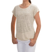 Barbour Abbot Burnout Shirt - Short Sleeve (For Women) in Pearl - Closeouts