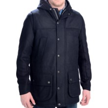 Barbour Aberfeldy Wool Coat - Insulated (For Men) in Navy - Closeouts