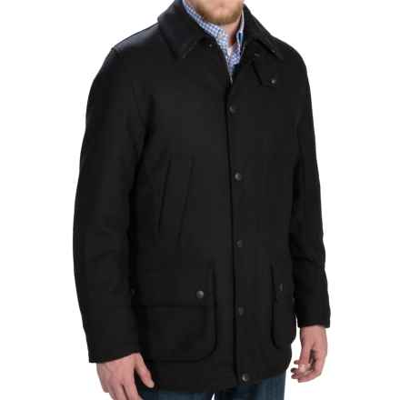 Barbour Ackergill Coat - Wool Blend (For Men) in Black - Closeouts