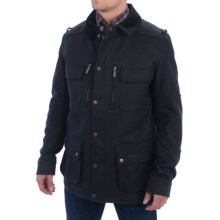 Barbour Admiral Coat - Wool Blend (For Men) in Navy - Closeouts
