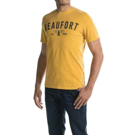 Barbour Affiliate T-Shirt - Short Sleeve (For Men) in Mustard - Closeouts