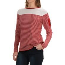 Barbour Ailsa Striped Cotton Sweater (For Women) in Chilli/Snow - Closeouts