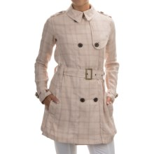 Barbour Alasdiar Double-Breasted Dress Coat (For Women) in Ice Rose Tartan - Closeouts