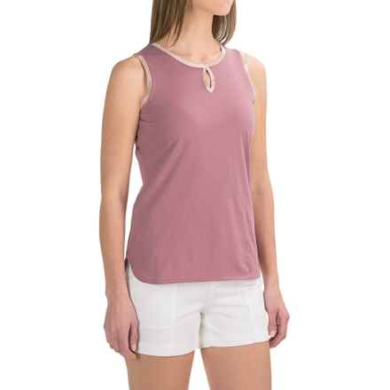 Barbour Alasdiar Keyhole Shirt - Sleeveless (For Women) in Ice Rose - Closeouts