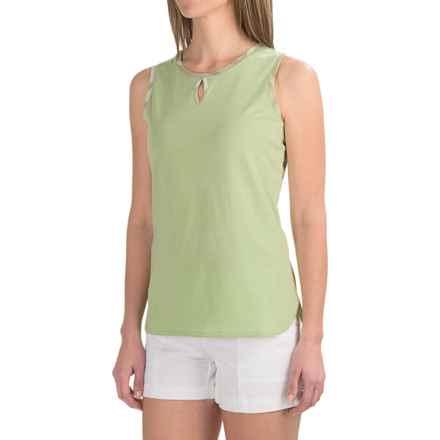 Barbour Alasdiar Keyhole Shirt - Sleeveless (For Women) in Laurel Green - Closeouts