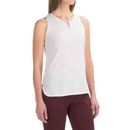 Barbour Alasdiar Keyhole Shirt - Sleeveless (For Women) in White - Closeouts