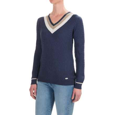 Barbour Alasdiar Sweater (For Women) in Mid Navy - Closeouts