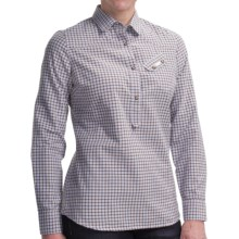 Barbour Ancroft Cotton Check Shirt - Long Sleeve (For Women) in Brown Check - Closeouts