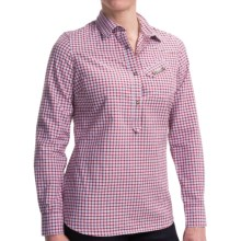Barbour Ancroft Cotton Check Shirt - Long Sleeve (For Women) in Scarlet Check - Closeouts