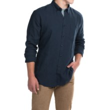 Barbour Anderson Linen Shirt - Slim Fit, Long Sleeve (For Men) in Navy - Closeouts