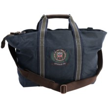 Barbour Applique Waxed-Cotton Canvas Bag in Navy, Coal Bag - Closeouts