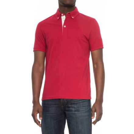 Barbour Arber Polo Shirt - Short Sleeve (For Men) in Red - Closeouts