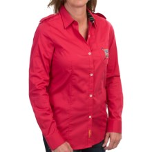 Barbour Ashfarm Stretch Cotton Shirt - Long Sleeve (For Women) in Chilli Red - Closeouts