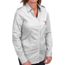 Barbour Ashfarm Stretch Cotton Shirt - Long Sleeve (For Women) in White - Closeouts