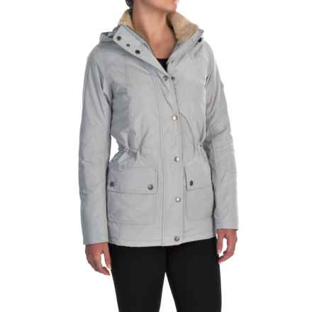 Barbour Aspley Jacket - Waterproof, Insulated (For Women) in Silver Ice - Closeouts
