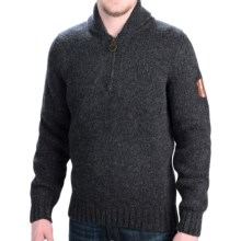 Barbour Authentic Sweater - Zip Neck (For Men) in Charcoal - Closeouts