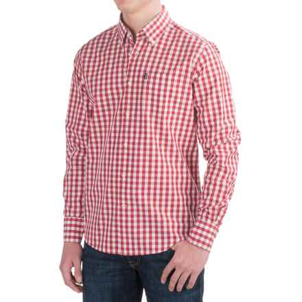 Barbour Auton Shirt - Long Sleeve (For Men) in Raspberry Check - Closeouts