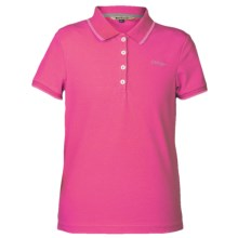 Barbour Azalea Polo Shirt - Short Sleeve (For Girls) in Bright Pink - Closeouts