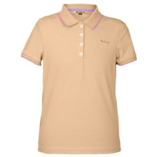 Barbour Azalea Polo Shirt - Short Sleeve (For Girls) in Buttercup - Closeouts