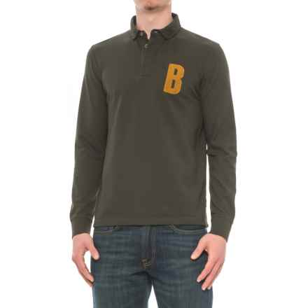 Barbour B Polo Shirt - Cotton, Long Sleeve (For Men) in Green - Closeouts