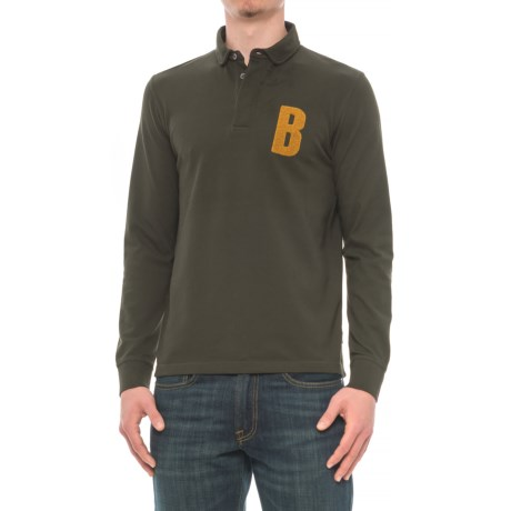 Barbour B Polo Shirt - Cotton, Long Sleeve (For Men) in Green
